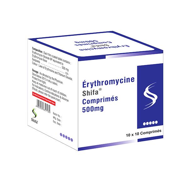 Erythromycine Comprimés 500mg