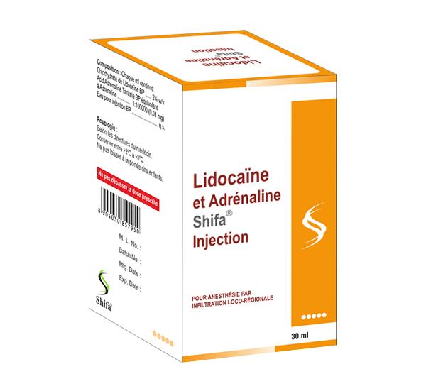 Lidocaïne et Adrénaline Injection