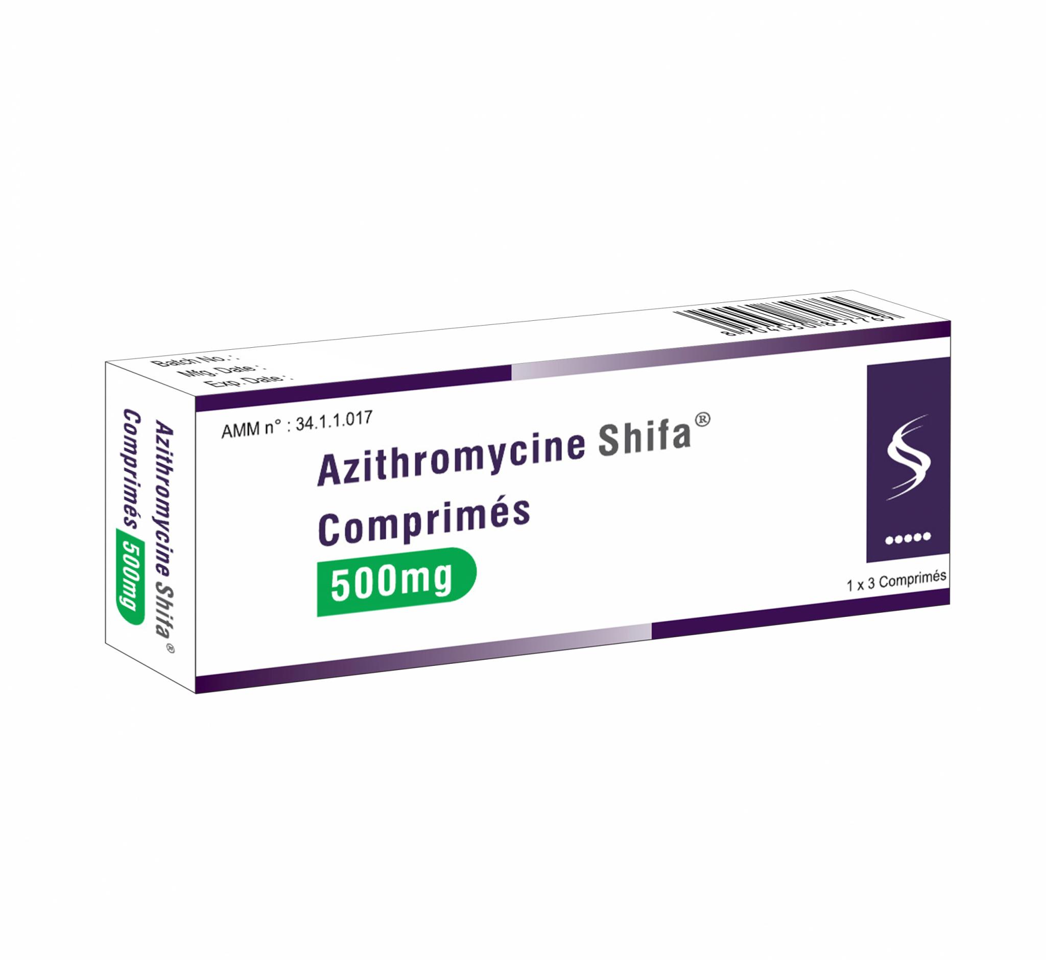 Azithromycine-Comprimé-500-mg